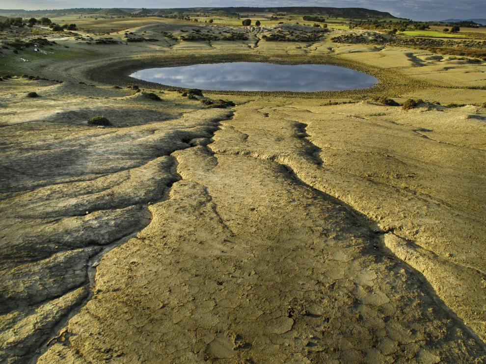 Imágenes de la estepa de Monegros.