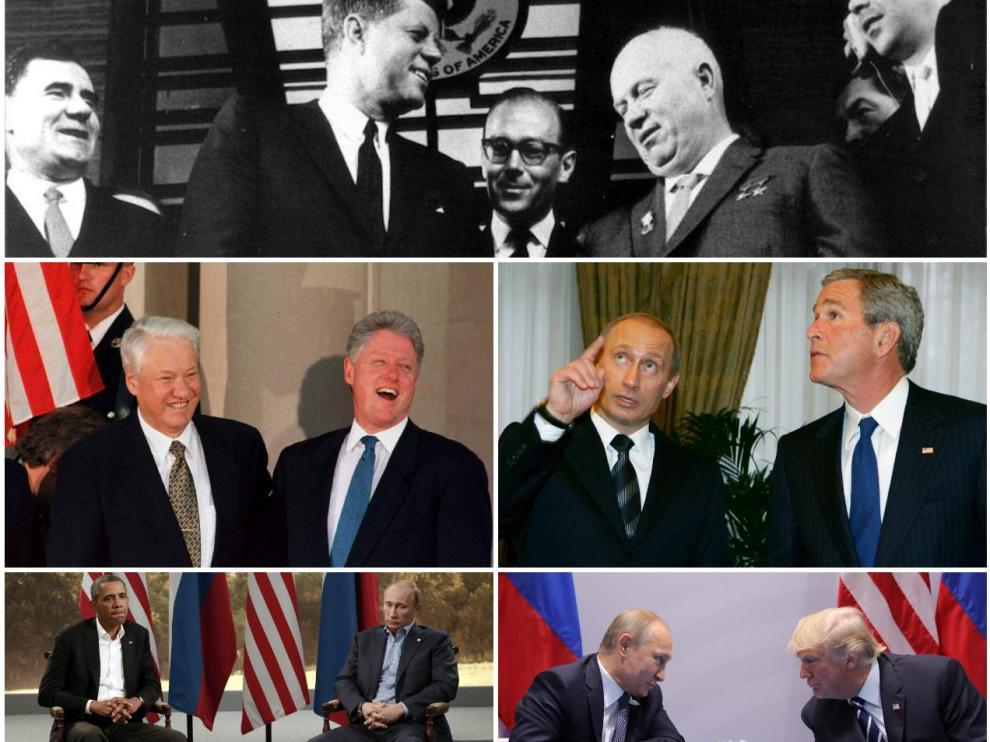 Las cumbres entre EE. UU. y Rusia, de la confrontación al humor absurdo