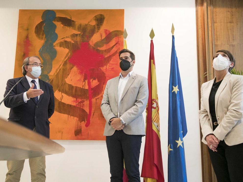 Reunión Pérez Anadón-Teruel por el plan de hostelería