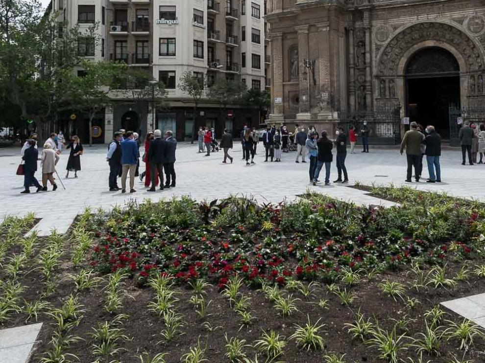 Estreno de la plaza de Santa Engracia reformada.