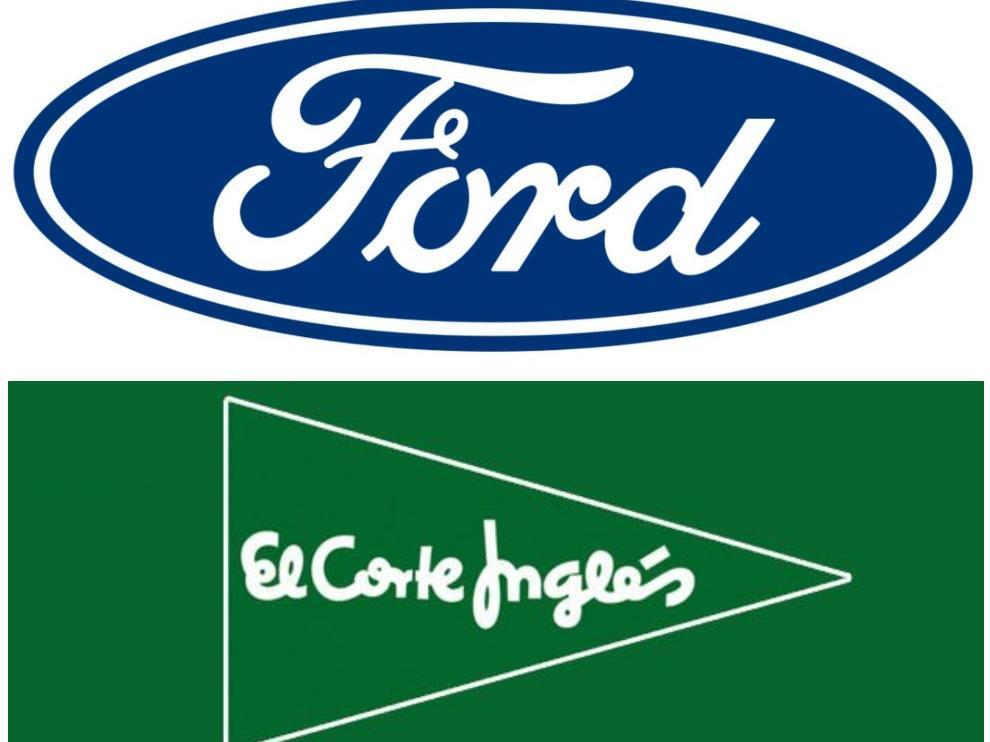 Logos de Ford y El Corte Inglés