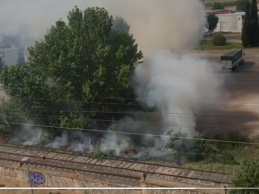 Incendio en Monzón.