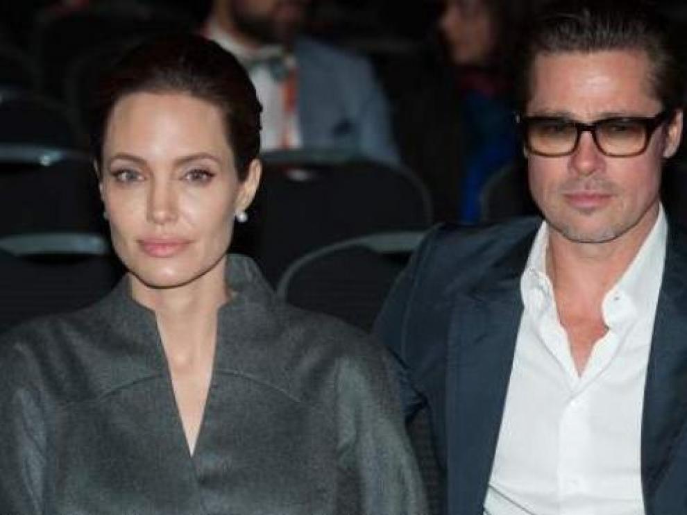 Los actores Angelina Jolie y Brad Pitt, en una imagen de 2014