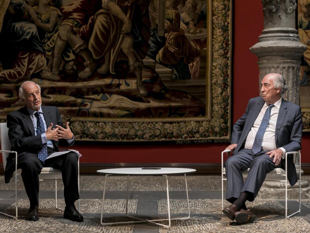 José Luis Aguirre y Amado Franco, durante la entrevista.