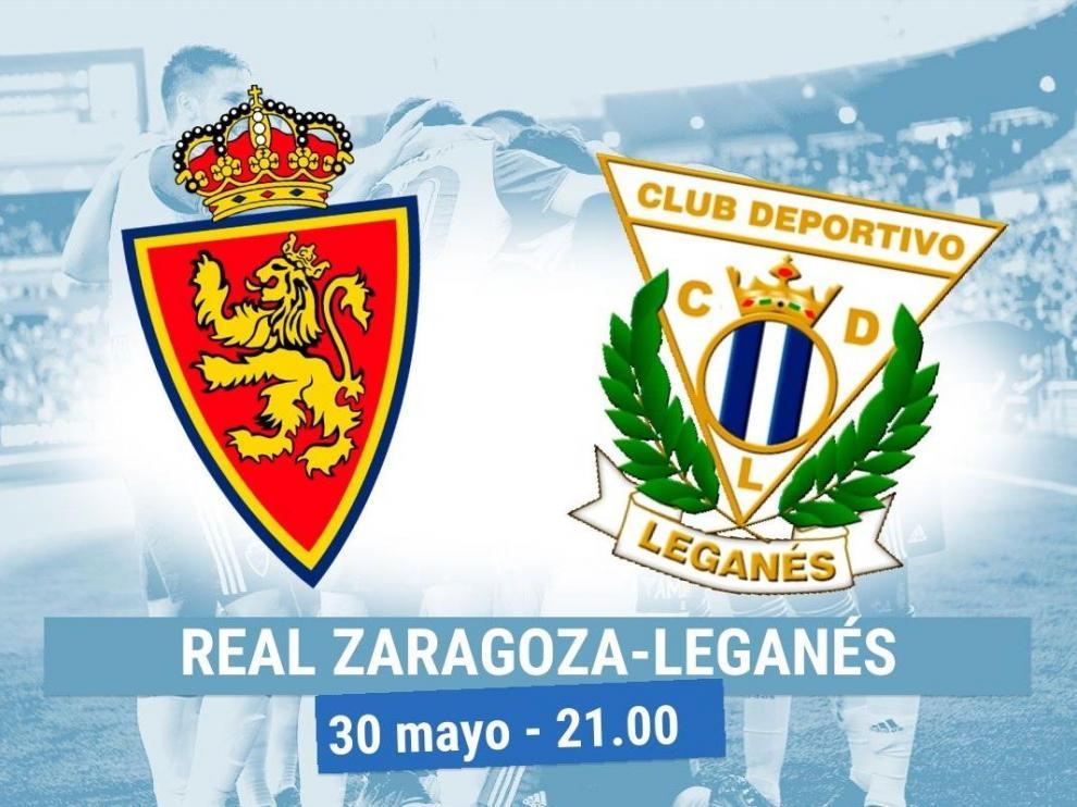 Horario y dónde ver el Real Zaragoza-Leganés.