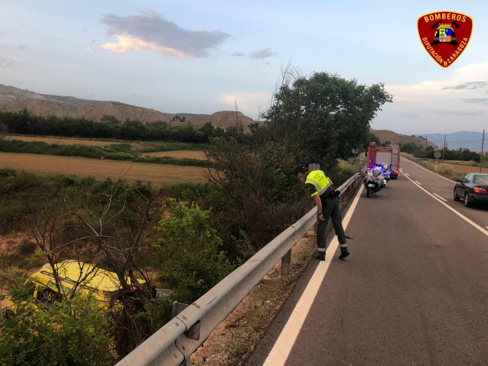 Accidente mortal de un motorista en la N-II entre Ateca y Terrer