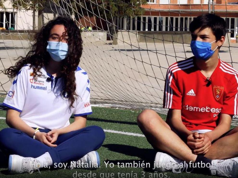 Una de las escena del vídeo del proyecto, realizado por las alumnas y alumnos del centro