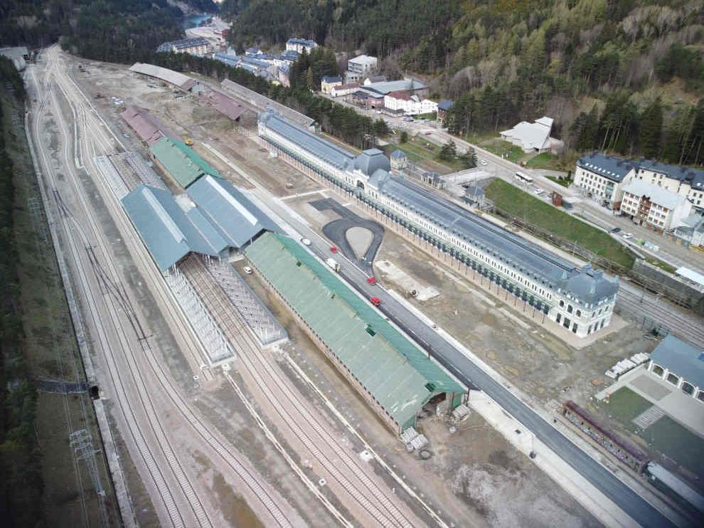 Nueva estación de tren de Canfranc.