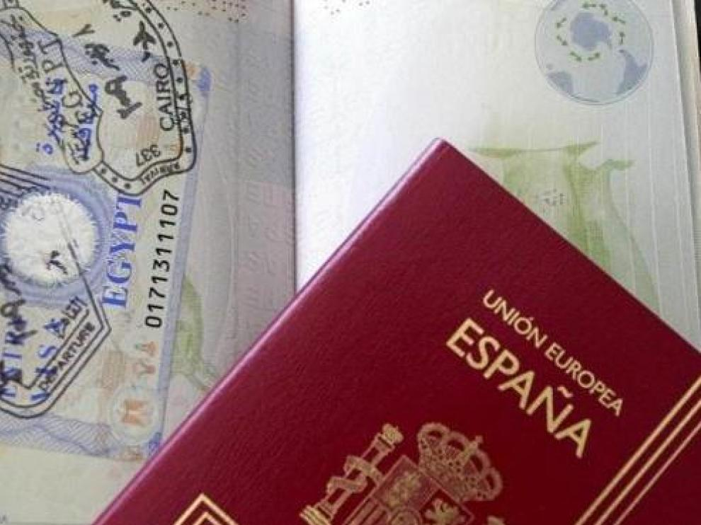 Imagen de archivo del pasaporte español
