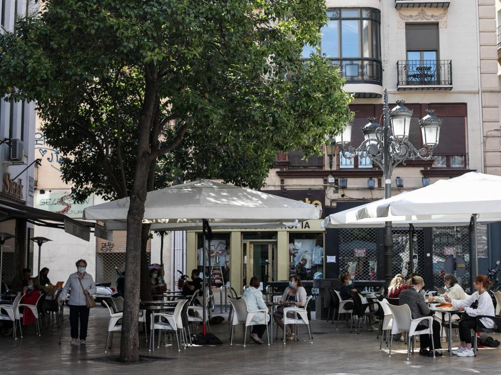 Terrazas en Zaragoza.