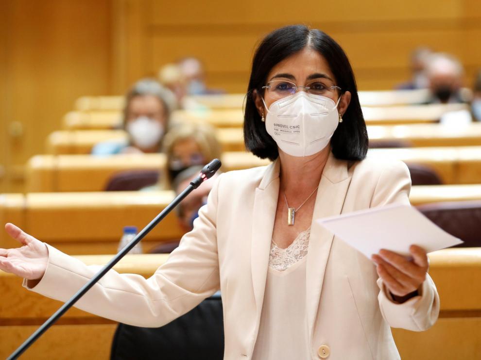 Carolina Darias interviene en el Senado.