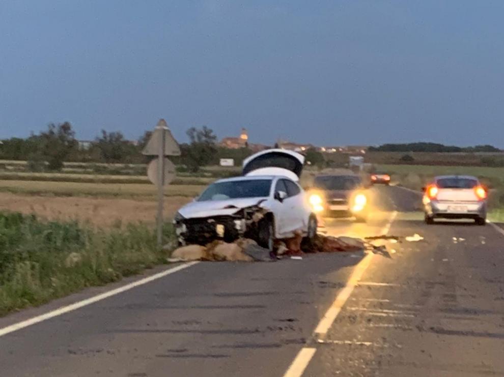 Imagen del accidente en Cabañas