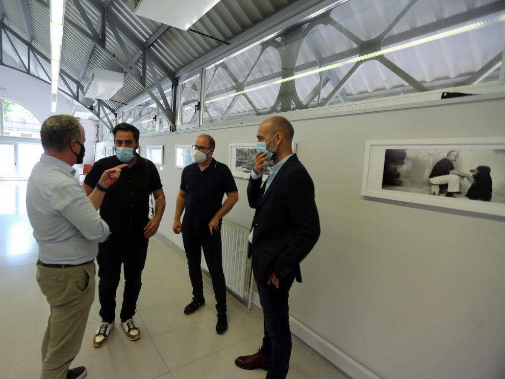 Rubén Moreno, Óscar Fernández Orengo, José Manuel Gómez y Ramón Lasaosa en la presentación de 'Los cineastas: Europa retratada'