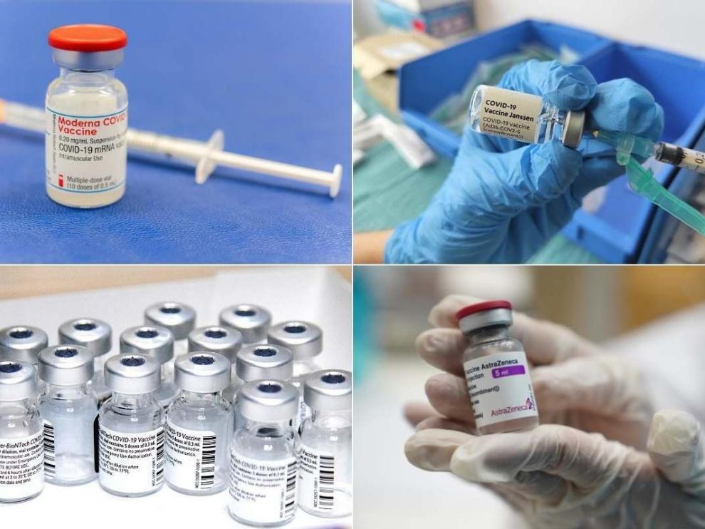 Vacunas de Pfizer, Moderna, Janssen y AstraZeneca