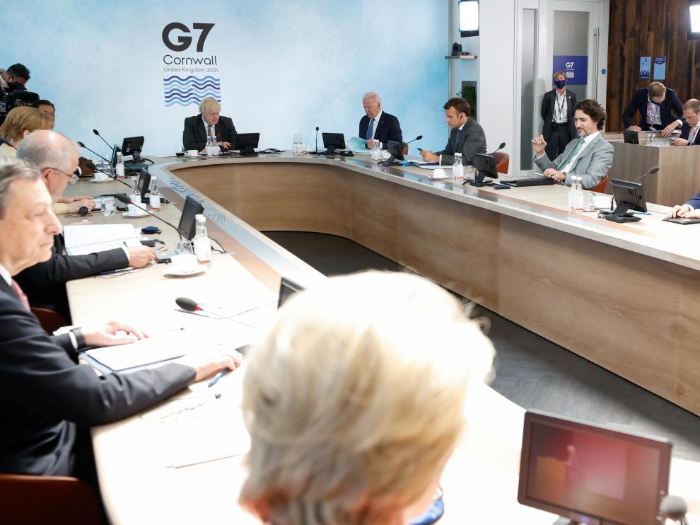 Los líderes del G-7, durante una de sus reuniones en la cumbre.