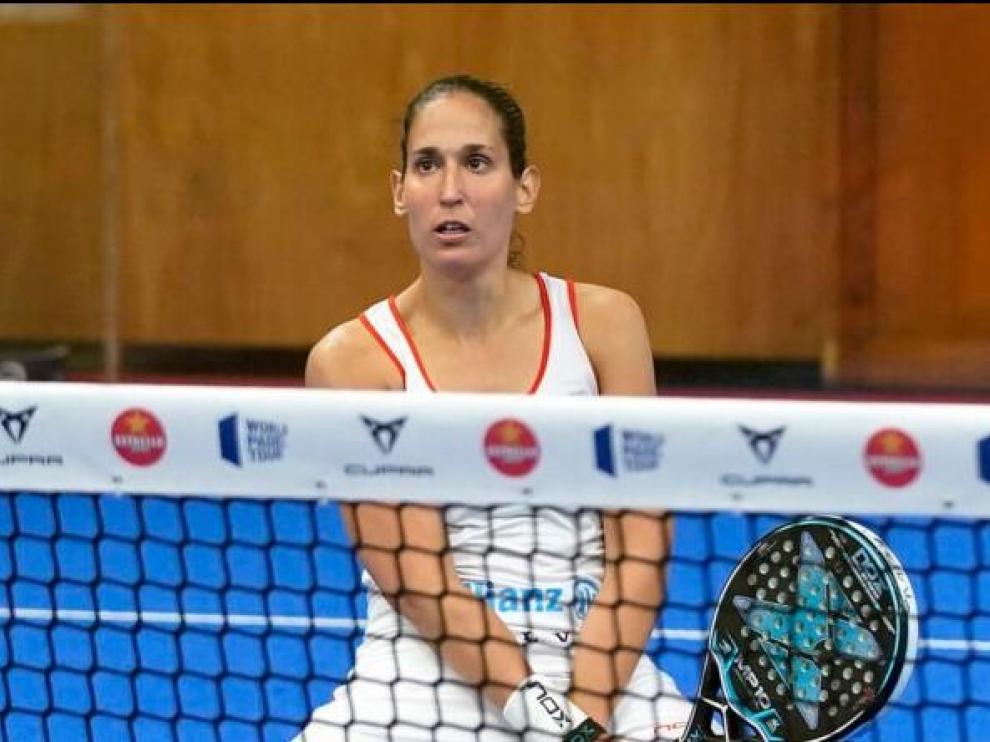 Mapi Sánchez Alayeto, durante el torneo de Santander.