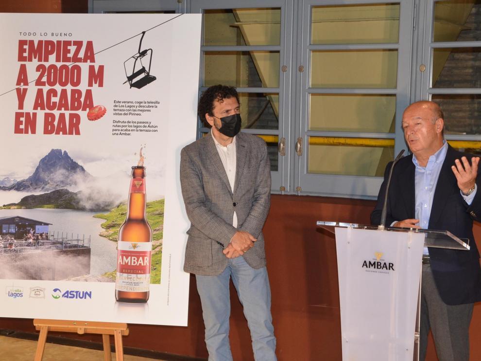 Enrique Torguet y Jesús Santacruz, durante la presentación en el Espacio Ambar.