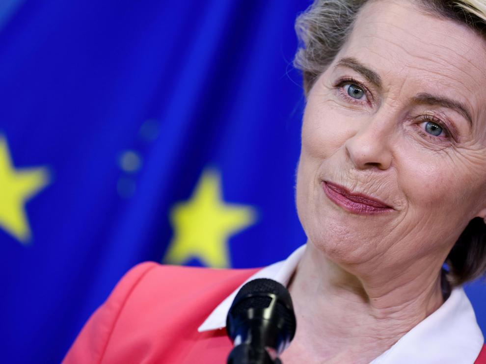 European Commission President Ursula von der Leyen receives the Secretary-General of the United Nations Antonio Guterres