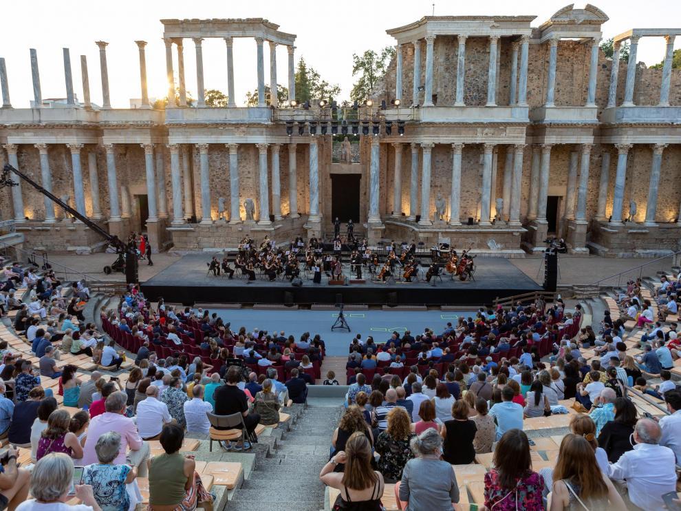 Concierto organizado por el grupo de Ciudades Patrimonio de la Humanidad de España a cargo de la Orquesta Sinfónica Freixenet de la Escuela Superior de Música Reina Sofía