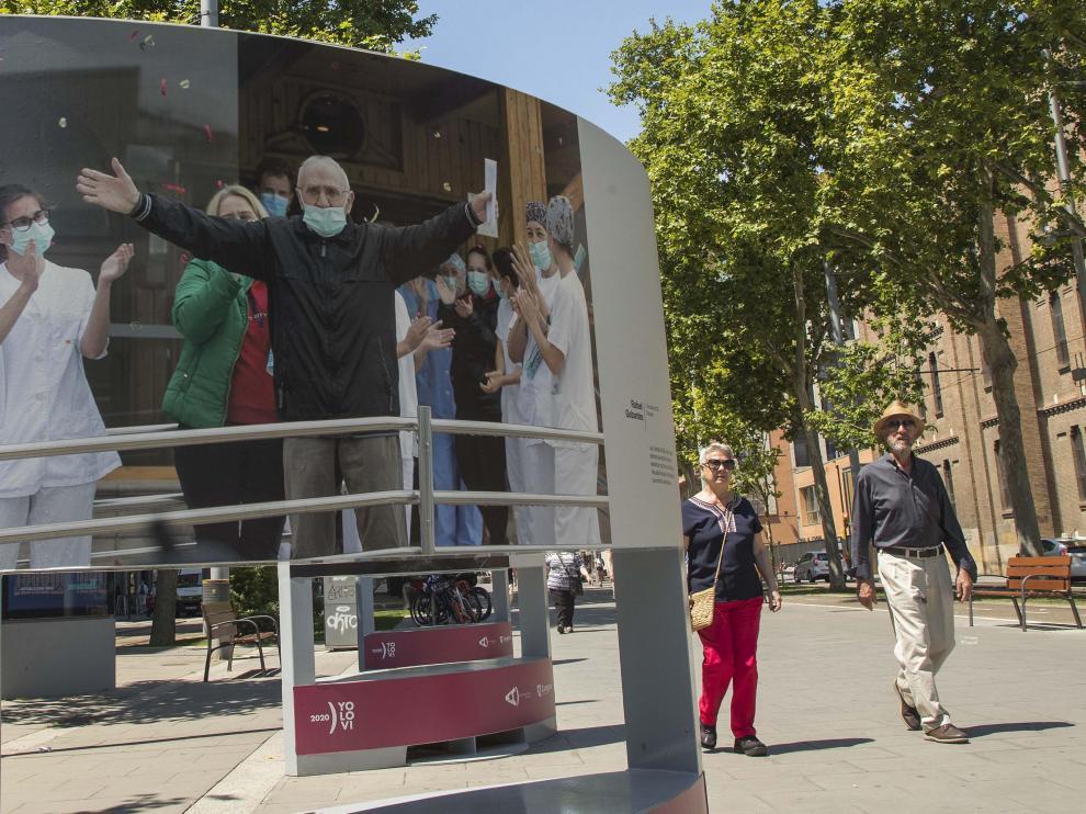 Primer día sin mascarilla obligatoria en exteriores en Zaragoza.