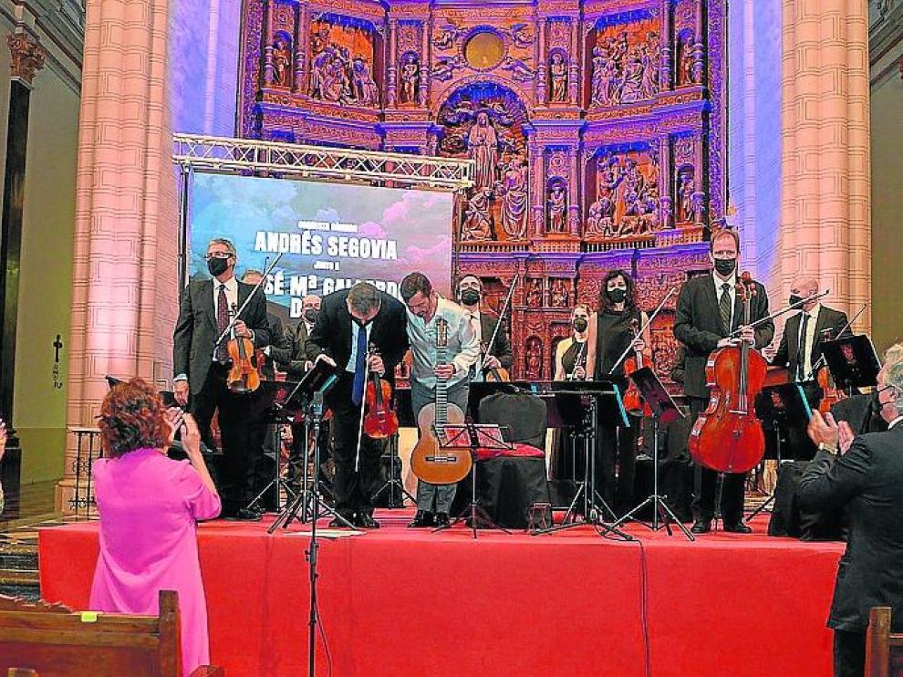 Un momento del emocionante concierto en la catedral de Teruel