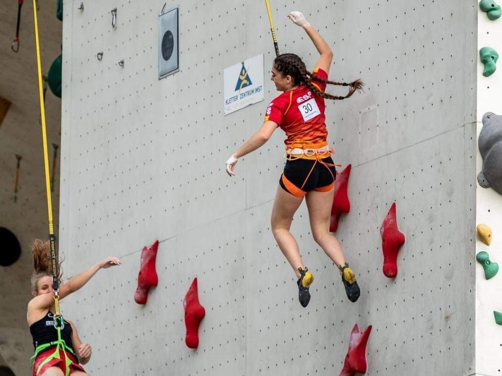 María Laborda, primera medalla para España en la Copa de Europa de Velocidad.