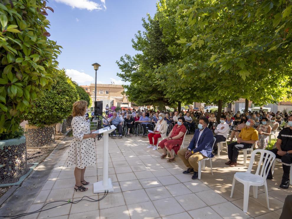 Acto de homenaje a las victimas de Covid en la residencia de ancianos de Monreal del Campo. Foto Antonio Garcia/bykofoto. 30/06/21[[[FOTOGRAFOS]]]
