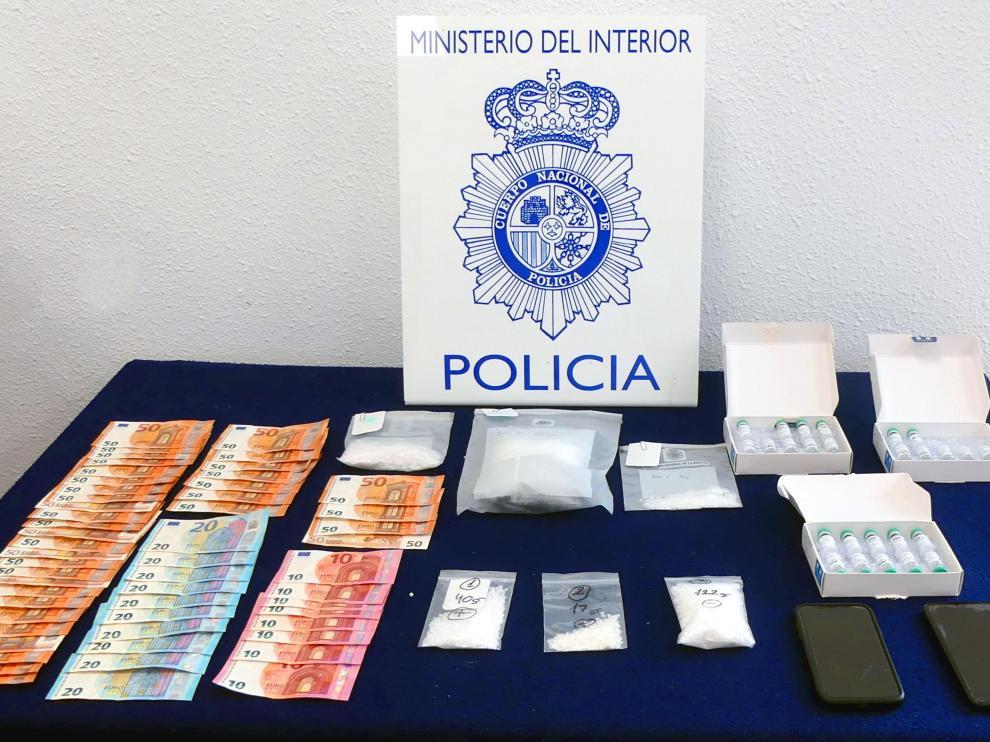 Material requisado por la Policía Nacional
