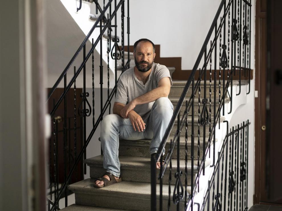 Retrato de Juan Marqués en Madrid, poeta, narrador y crítico literario.