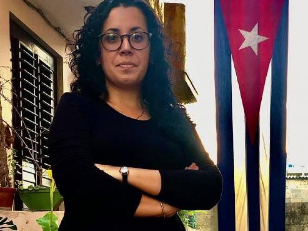 La periodista Camila Acosta.