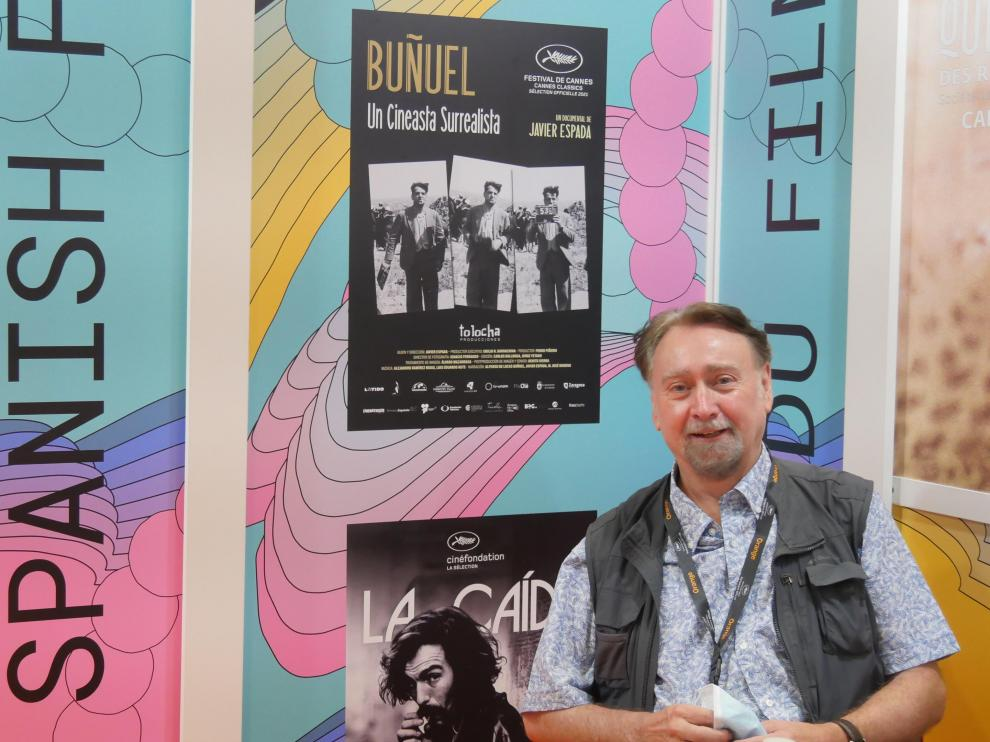 El cineasta aragonés Javier Espada, ayer en Cannes.