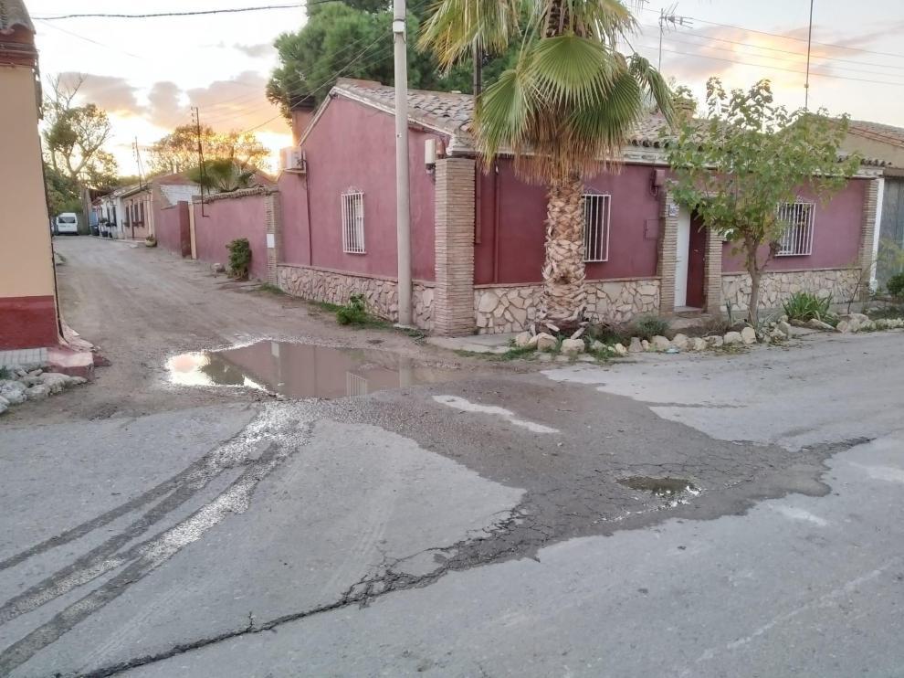 Camino de Enmedio, una zona sin saneamiento ni agua potable en algunos puntos.