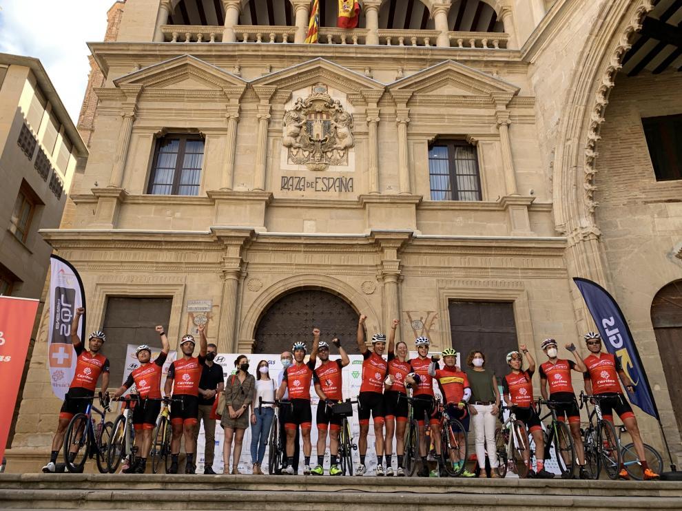 El Movimiento Ultreya fue recibido en la plaza de España de Alcañiz.
