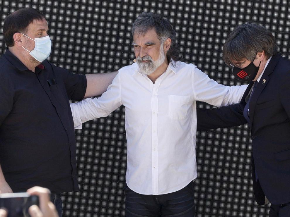 Foto de Puigdemont y Junqueras