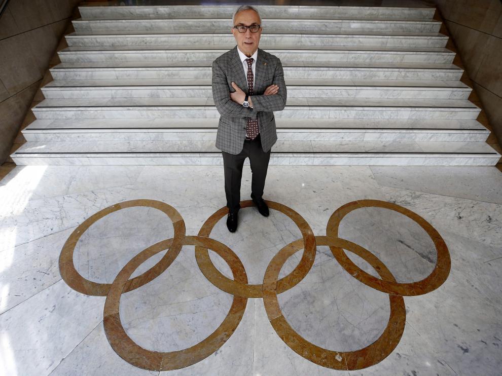 Alejandro Blanco, en la sede del COE, antes de partir a Tokio con la delegación que participará en los Juegos de Verano.