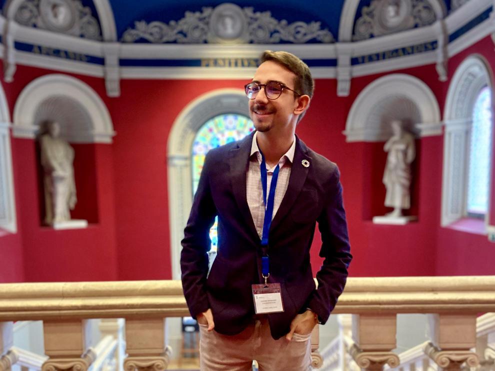 El universitario zaragoano Álvaro Lombardo competirá el 21 de julio en la final del EY Voice 2021 en Madrid.