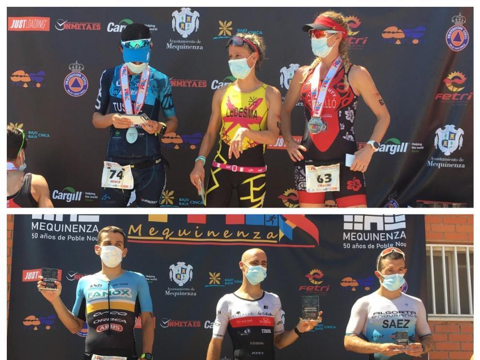 Ganadores del IV Half Triatlón Mequinenza.
