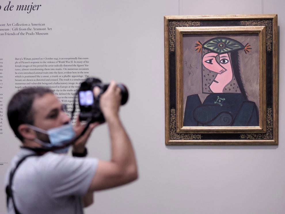 'Busto de mujer', de Picasso, en el Museo del Prado