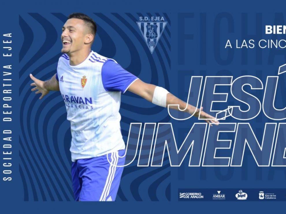 Jesús Jiménez refuerza el ataque de la SD Ejea.