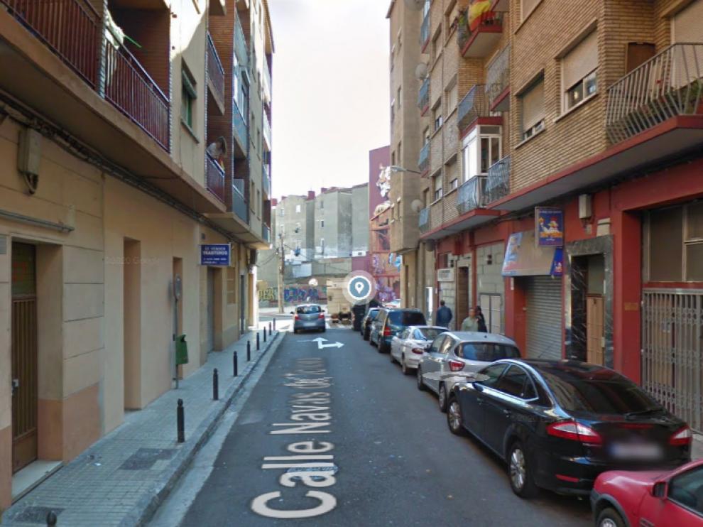 Una imagen de la calle de las Navas de Tolosa, en Delicias, donde un hombre ha amenazado de muerte a su pareja en el domicilio.