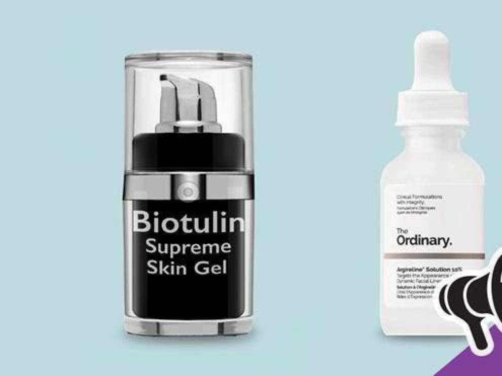 Dos productos que prometen efectos similares a los de las inyecciones de botox.