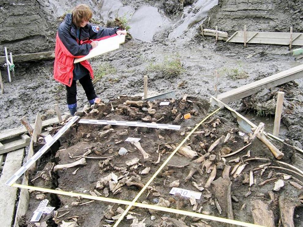 Yacimiento a orillas del río Yana donde aparecieron los dientes de leche.
