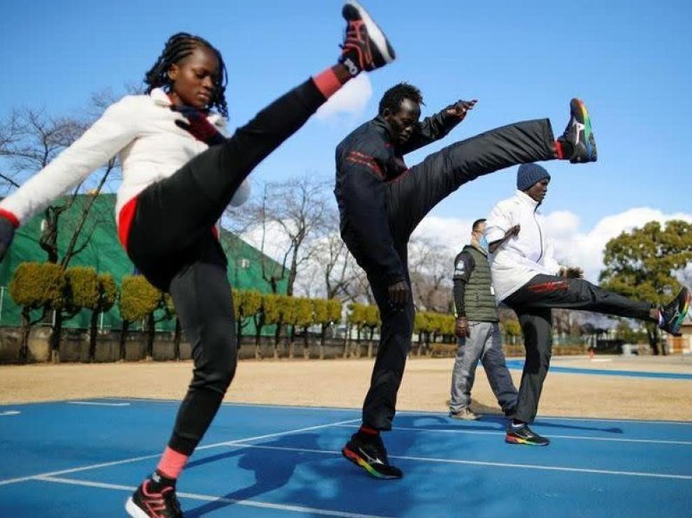 Atletas sudaneses en Japón