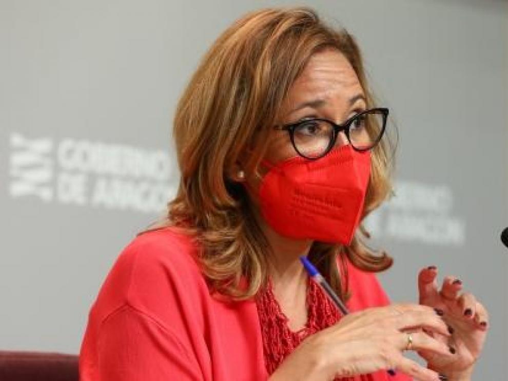 Mayte Pérez este jueves en Zaragoza.