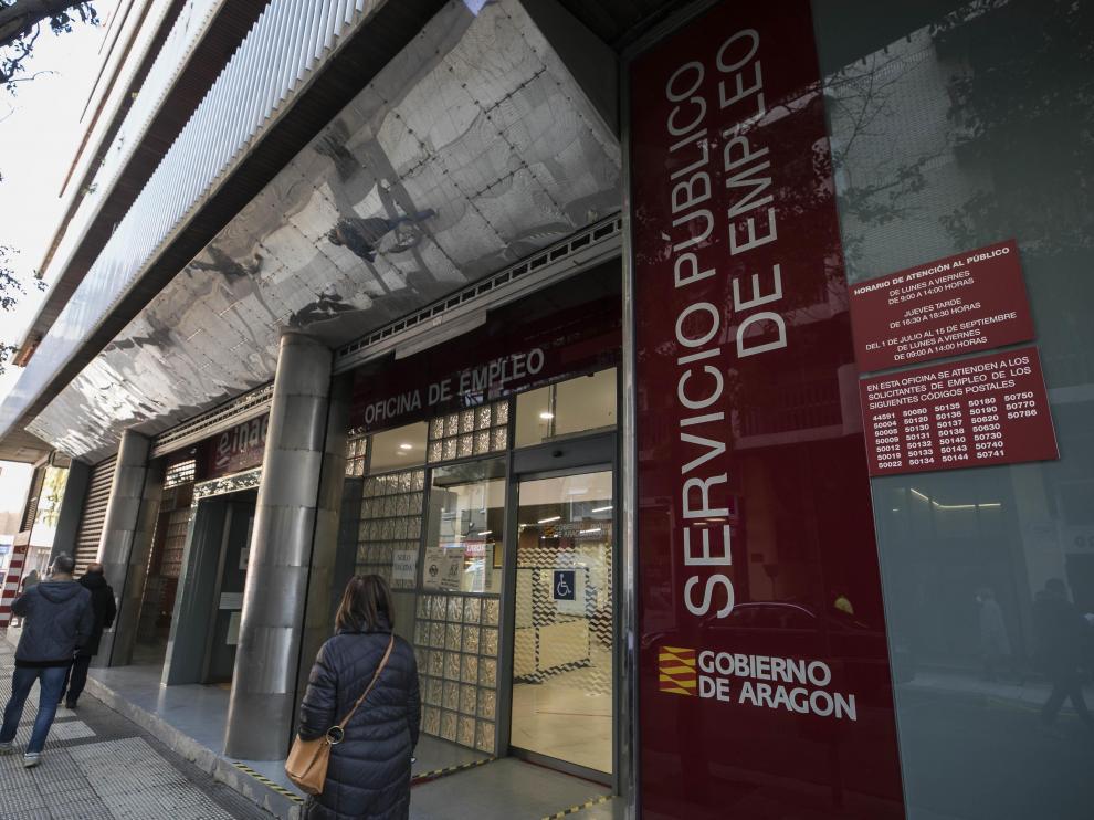 Una oficina de empleo del Inaem en Zaragoza.