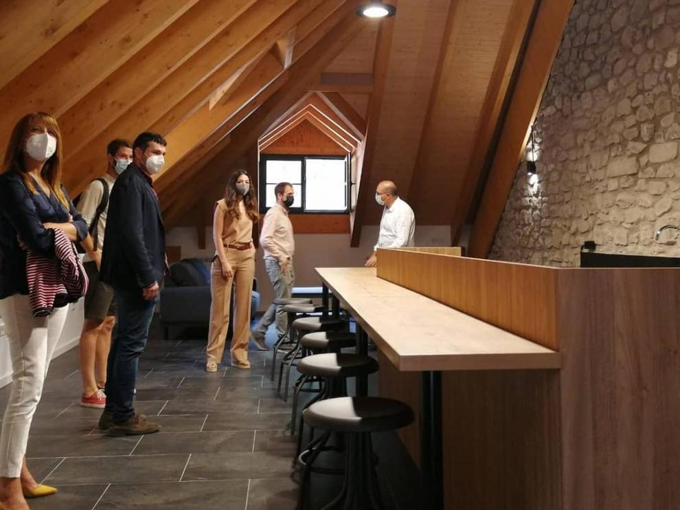 Acto de inauguración del albergue, que se abre el lunes