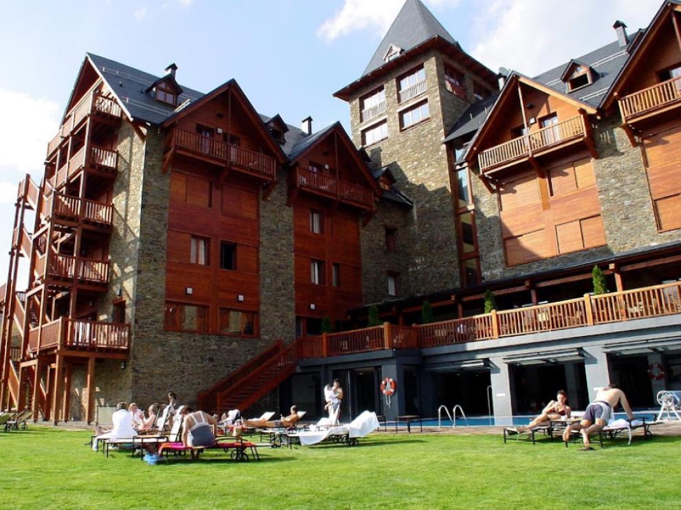 Hotel Saliecho, en la urbanización de Formigal, propiedad de Jesús Pellejero.