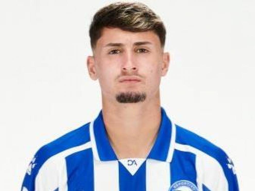 Borja Sainz, extremo del Alavés que puede llegar cedido al Real Zaragoza.
