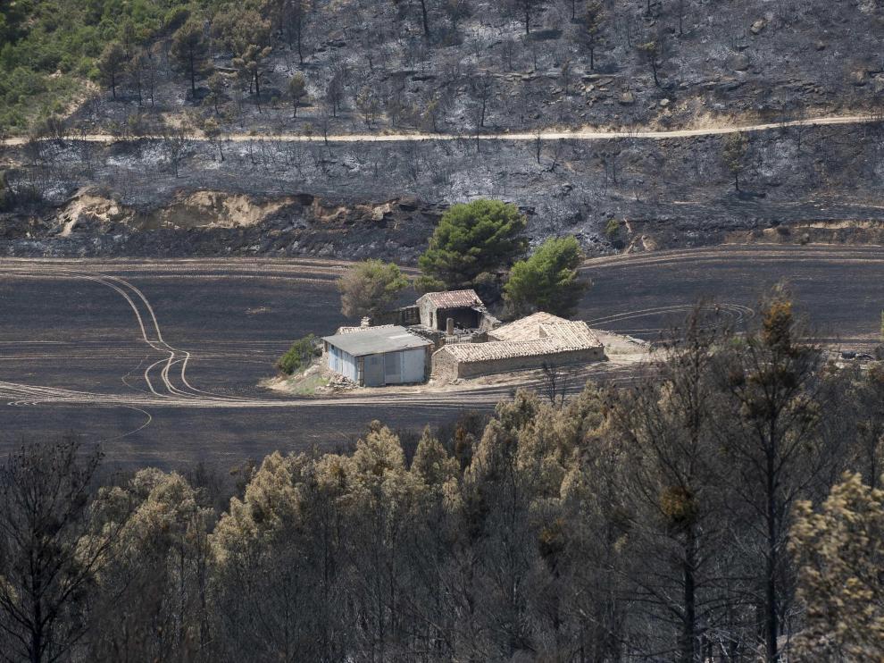 Una finca de Luna quedó milagrosamente libre de las llamas en el incendio forestal de julio de 2015.