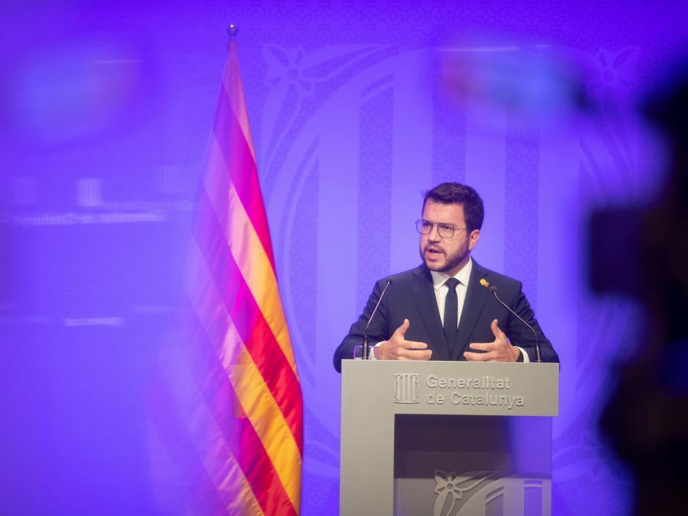 Rueda de prensa de Pere Aragonès
